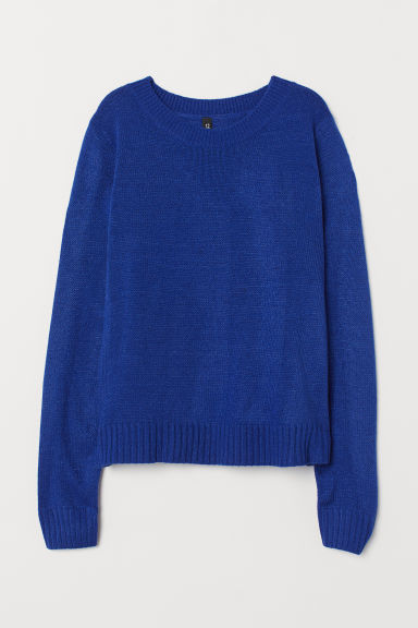Knitted jumper - Cornflower blue -  | H&M