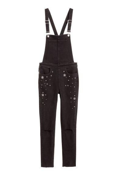 Denim dungarees - Black denim - Ladies | H&M IE