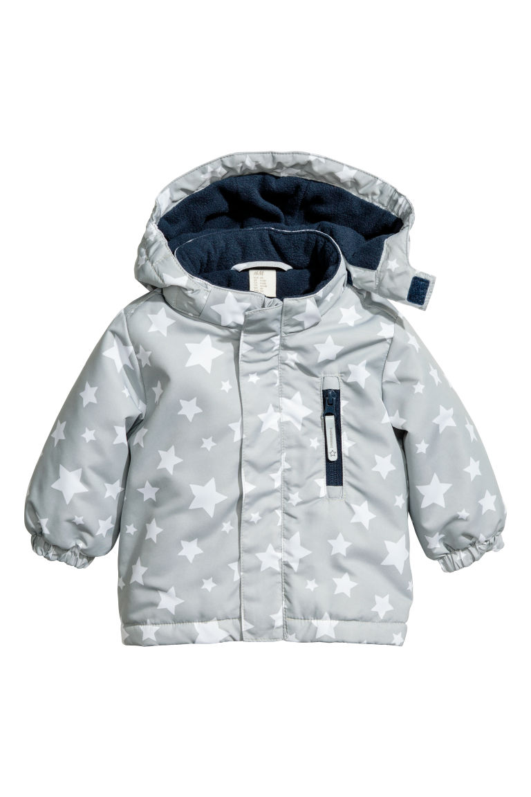 Padded outdoor jacket - Light grey - Kids | H&M GB