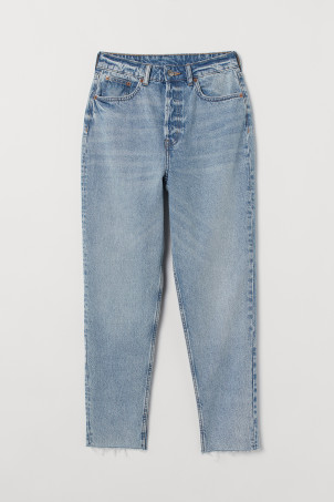 Slim Mom High Ankle Jeans