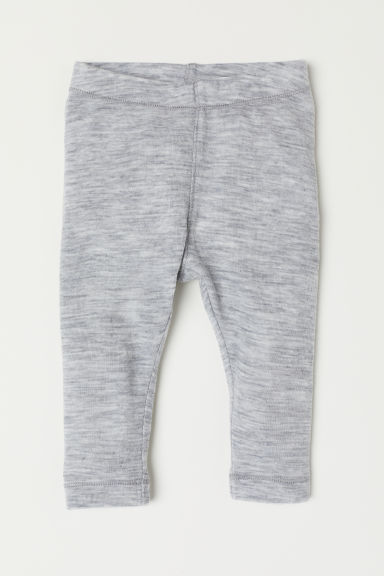Wool leggings - Light grey marl -  | H&M