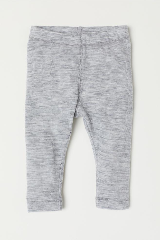 Legging en laine - Gris clair chiné - ENFANT   H M ... 7bc2a7bf5402
