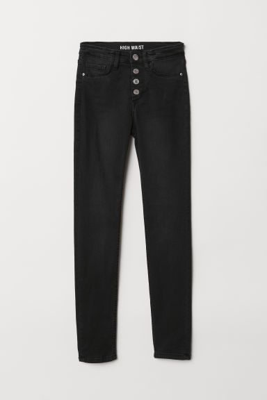 Skinny Fit High Jeans - Black/Washed - Kids | H&M
