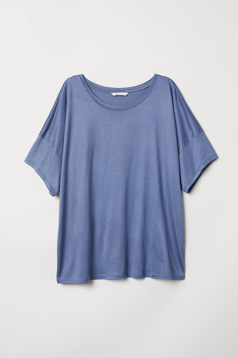 T-shirt in viscosa - Blu - DONNA | H&M IT