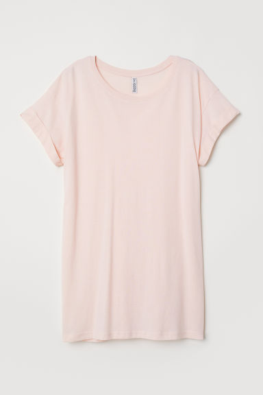 Long T-shirt - Powder pink - Ladies | H&M CN
