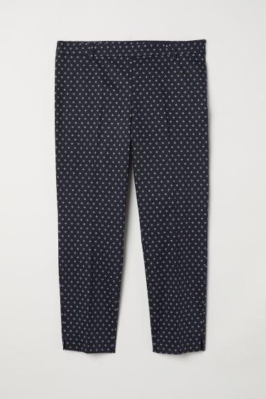 H&M+ Tailored trousers - Dark blue/Patterned - Ladies | H&M