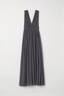 acee37d5a2 Długa sukienka z siateczki