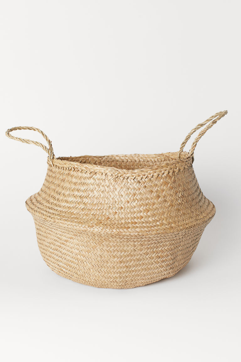 Grand panier pliable - Naturel - Home All | H&M CA