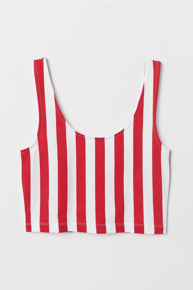 277cf9e468a825 ... Short Tank Top - Red white striped - Ladies