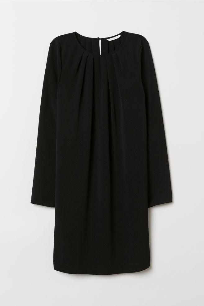 d32884f44a47 Long-sleeved Dress - Black - Ladies | H&M ...