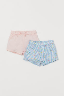 448a6bcae Rosa Blanco · Pack de 2 pantalones cortos