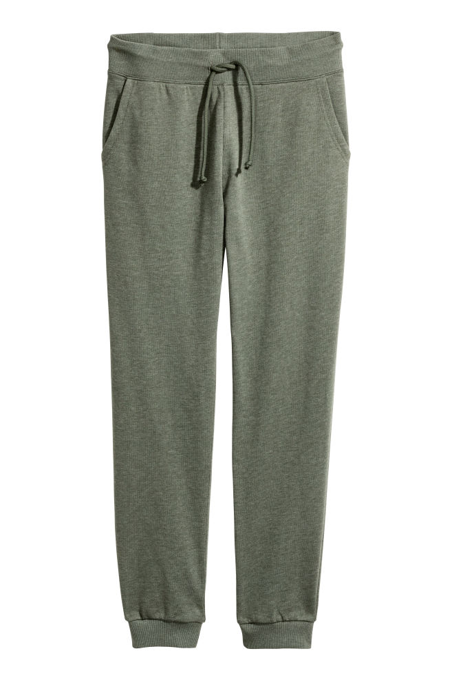 b4fb91276732eb Sweatpants - Khaki green - Ladies | H&M ...