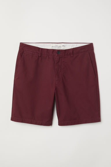 Shorts modello chinos - Bordeaux - UOMO | H&M IT