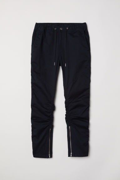 Twill joggers with zips - Black -  | H&M