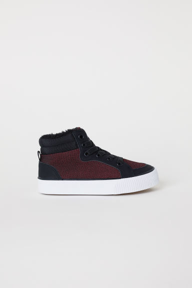 Pile-lined hi-tops - Red - Kids | H&M CN