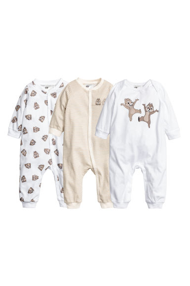 3-pack pyjamas - White/Chip 'n' Dale -  | H&M CN