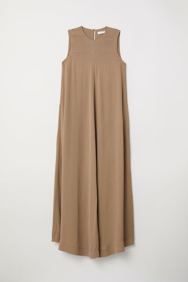 Maxi dress with pockets - Camel - Ladies | H&M CN