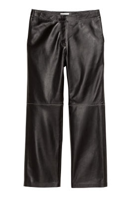 Pantalón tobillero de piel eae704dd0130