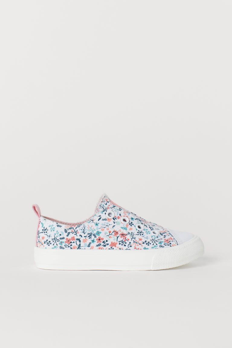 Slip-on Shoes - White/floral - Kids | H&M US