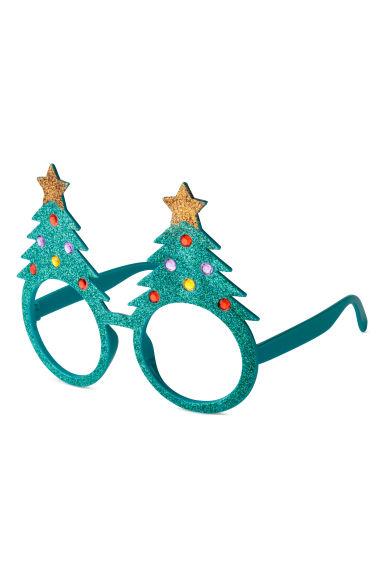 Albero Di Natale Petrolio.Occhiali Glitter