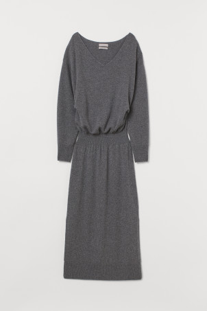 Fine-knit cashmere dress