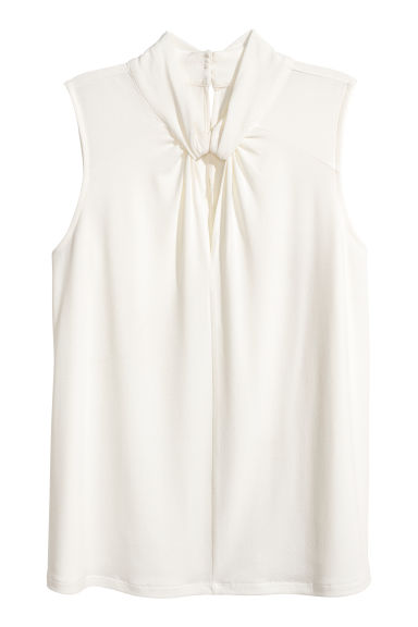 Jersey crêpe top - White - Ladies | H&M IE
