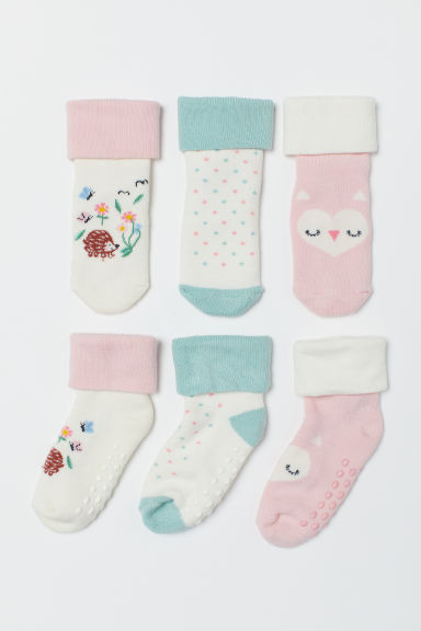 3-pack terry socks - Light pink/White - Kids | H&M CN