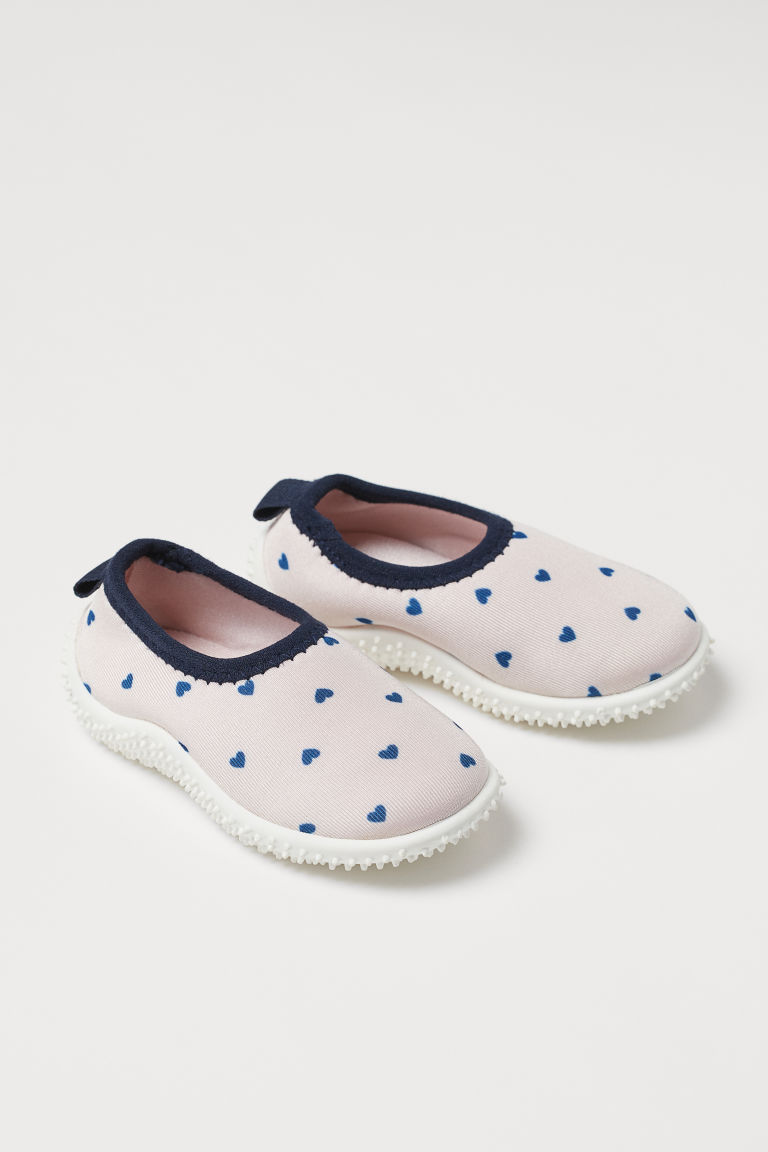 Scuba-look Water Shoes - Light pink/hearts - Kids | H&M US