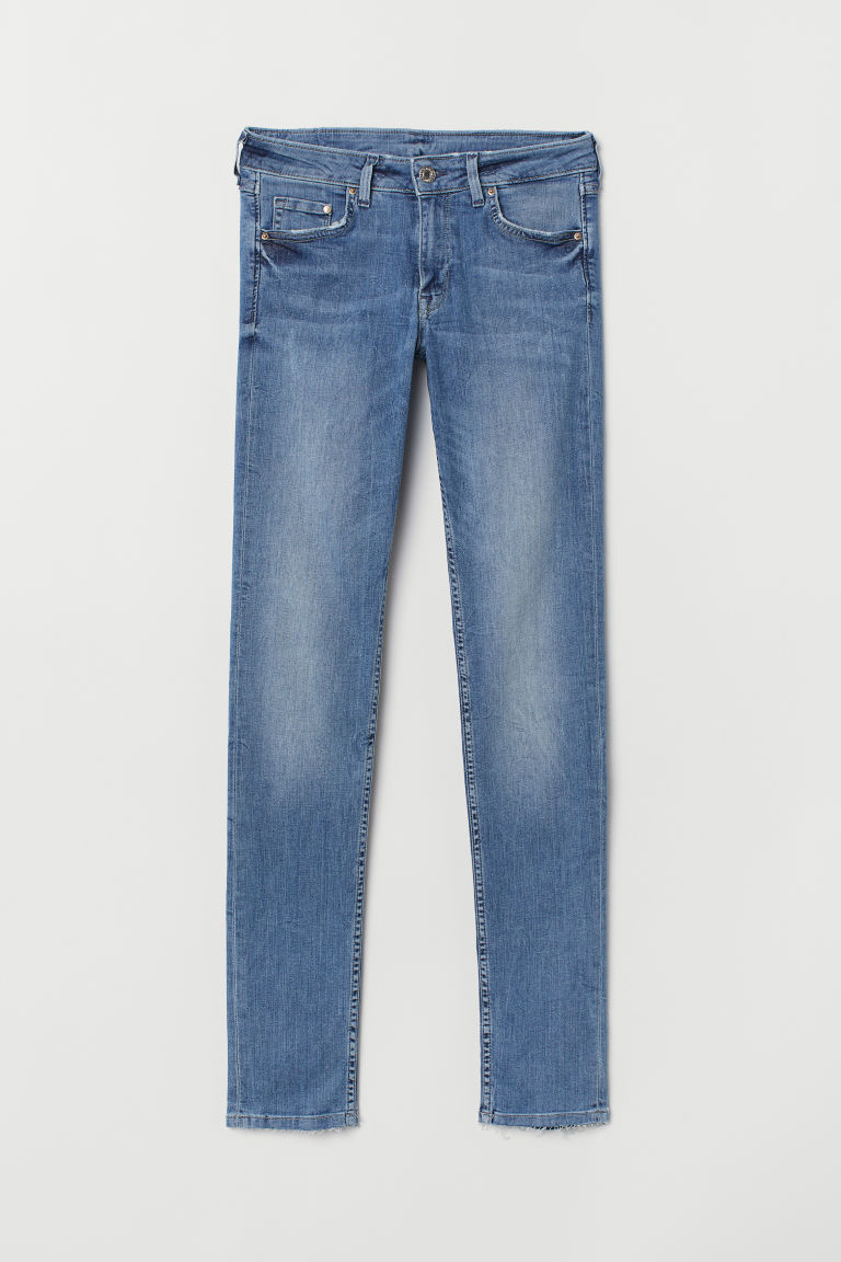 Skinny Low Jeans - Light denim blue -  | H&M