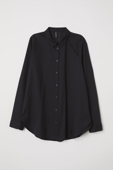 Camicia in cotone - Nero - DONNA | H&M IT