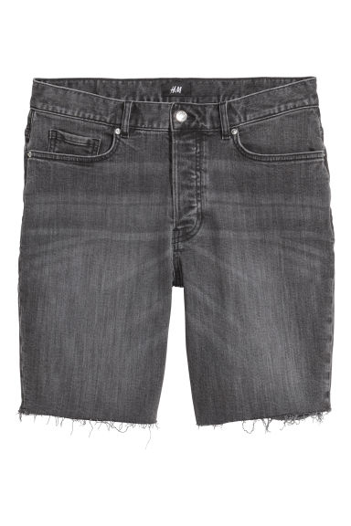 Jeansshorts - Svart/Washed out - HERR | H&M SE