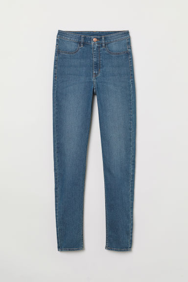 Super Skinny High Jeans - Син деним -  | H&M BG