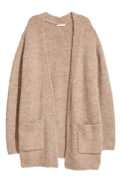 535bbfb6 Knitted cardigan - Beige - Ladies | H&M ...