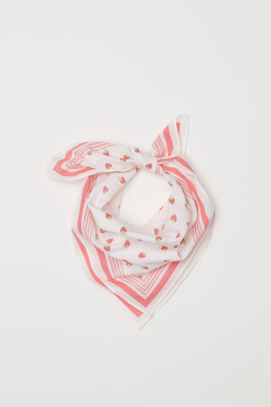 Patterned scarf - White - Kids | H&M