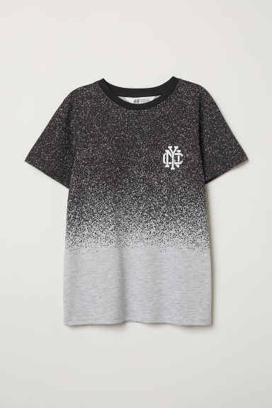 Printed T-shirt - Light grey/Black - Kids | H&M