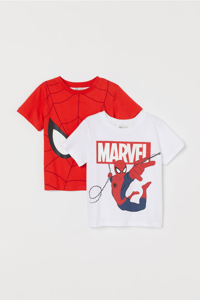 b665f4020 ... 2-pack Printed T-shirts - Red/Spider-Man -   H&M ...