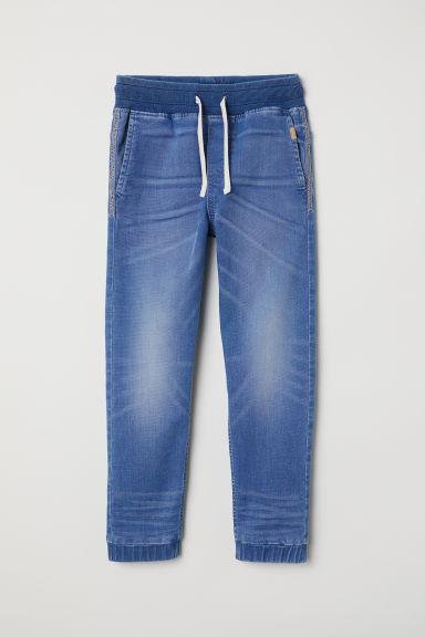 Super Soft denim joggers - Light denim blue - Kids | H&M CN