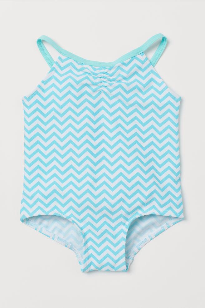 55a395bcf6 Wzorzysty kostium kąpielowy - Jasnoturkusowy Wzór - Dziecko