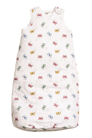 Sleeping sack - White/Butterflies -  | H&M
