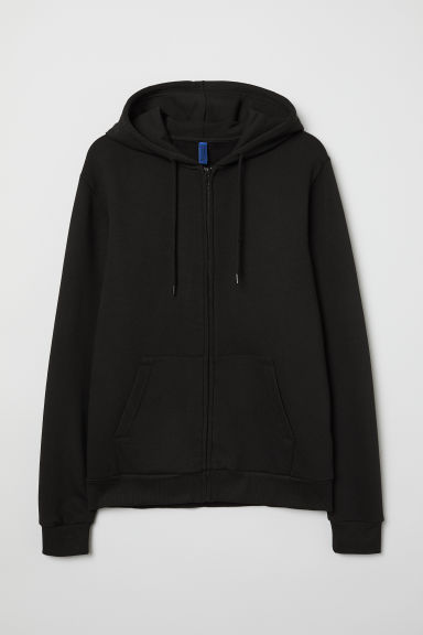 Hooded jacket - Black - Men | H&M