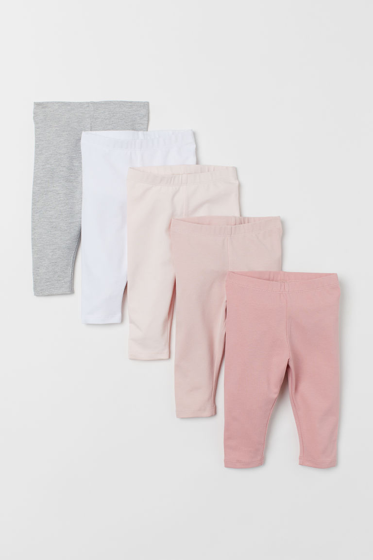 Leggings en jersey, lot de 5 - Rose/multicolore - ENFANT | H&M FR