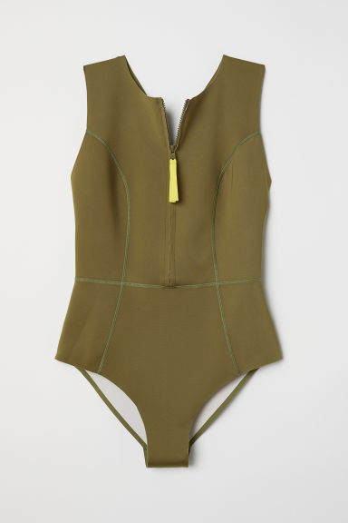 Scuba swimsuit - Khaki green - Ladies | H&M