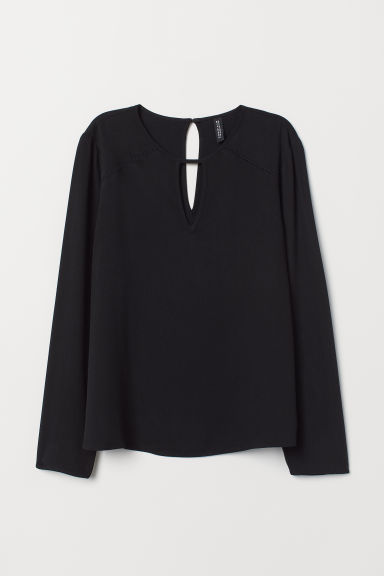 Viscose blouse - Black - Ladies | H&M