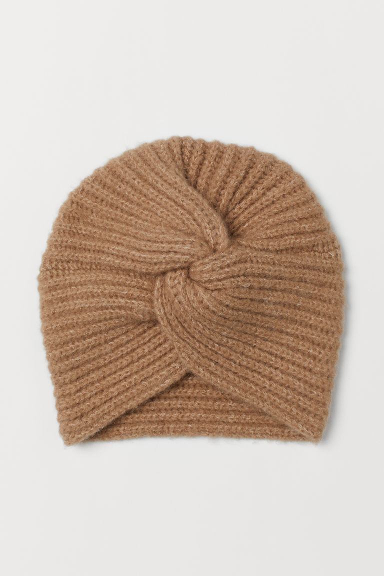 Rib-knit turban - Beige - Ladies | H&M CN