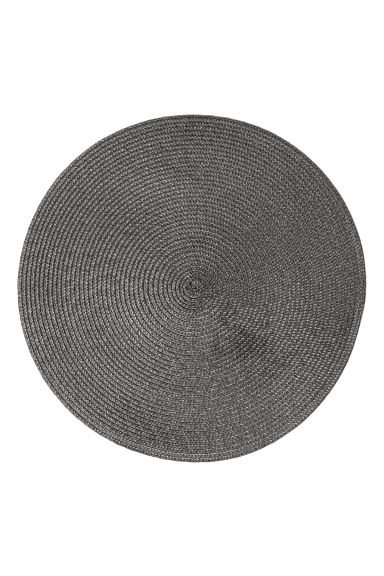 Sets de table, lot de 2 - Gris anthracite - Home All | H&M FR