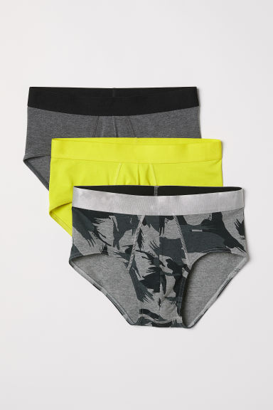 3-pack cotton briefs - Neon yellow - Men | H&M