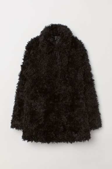 Faux Fur Jacket - Black - Ladies | H&M CA