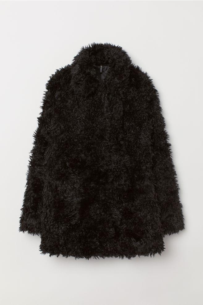 dfab1910ba Faux Fur Jacket - Black - Ladies   H&M US 1