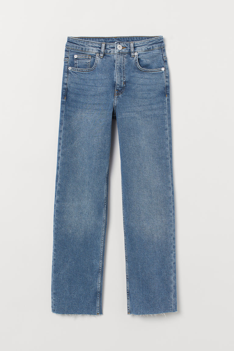 Straight High Ankle Jeans - Blue - DAMEN | H&M CH