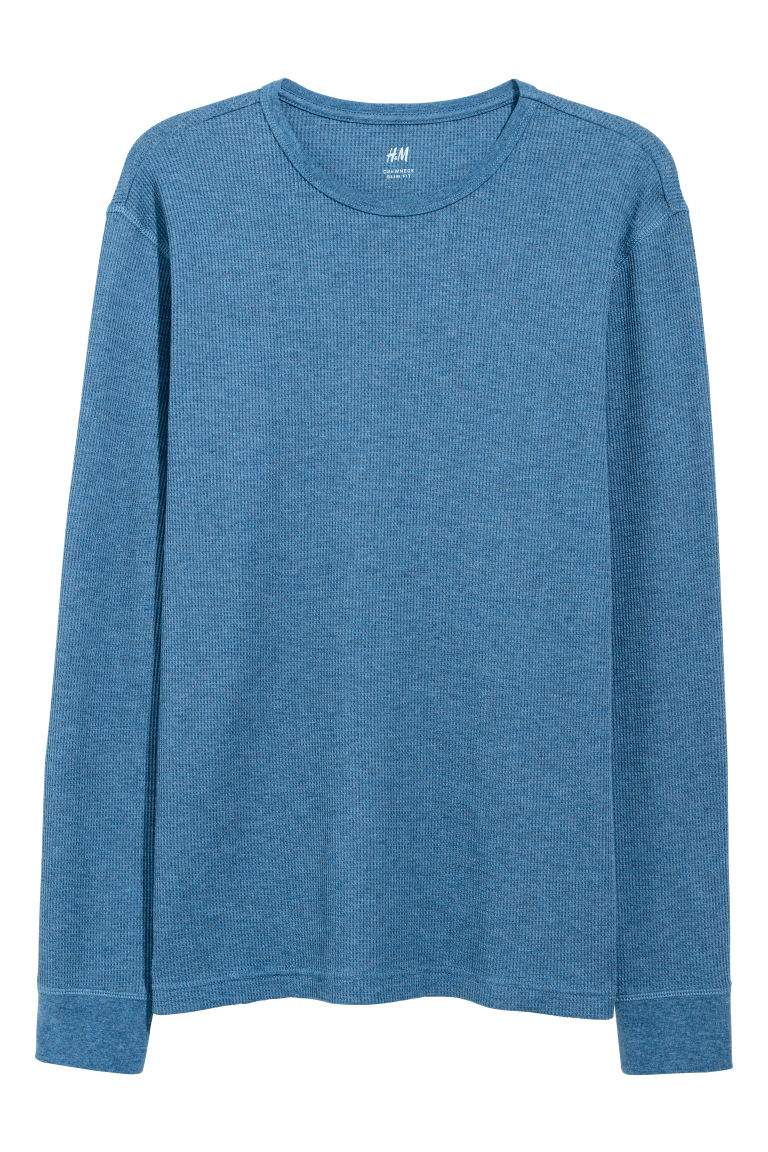 Waffled top - Blue marl - Men | H&M